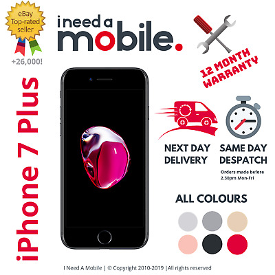 Apple iPhone 7 Plus - 32GB 128GB 256GB - Unlocked - All Networks-Various Colours