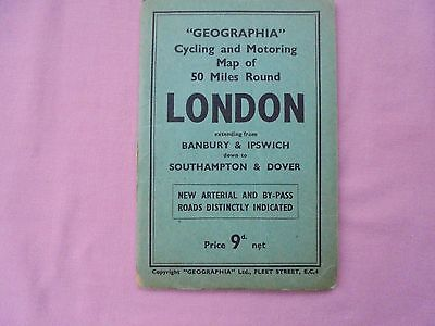 Geographia - Cycling & Motoring Map - 50 Miles Around London