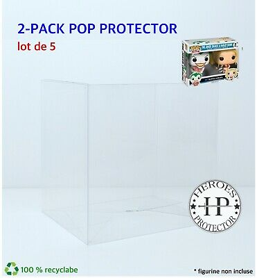 Lot 5 - 2-PACK - Protection Funko Pop 2 PACK Pop Protector Vinyl Box Case