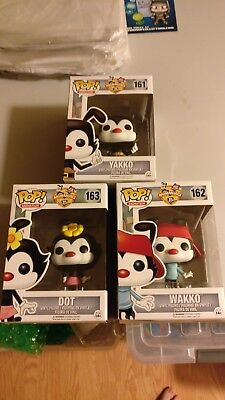 FUNKO POP ANIMANIACS , YAKKO, WAKKO & DOT in pop protector