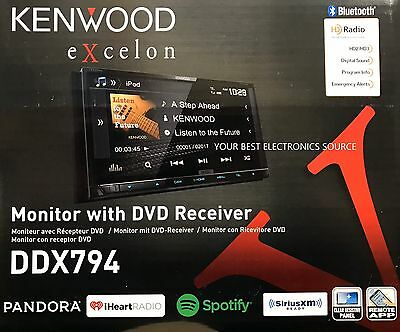 "NEW KENWOOD DDX794  6.95"" Touchscreen 2-DIN DVD Receiver w/ Bluetooth & HD Radio"
