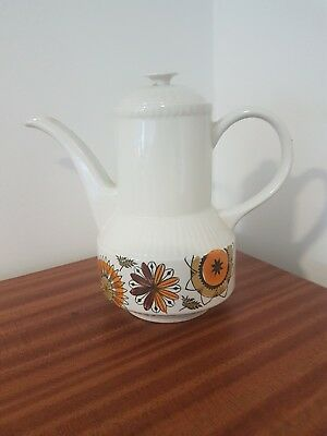 VINTAGE BROADHURST STAFFORDSHIRE IRONSTONE 'CALYPSO' COFFEE POT by KATHIE WINKLE