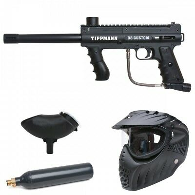 Tippmann 98 Custom Platinum Basic Paintball CO2 Set