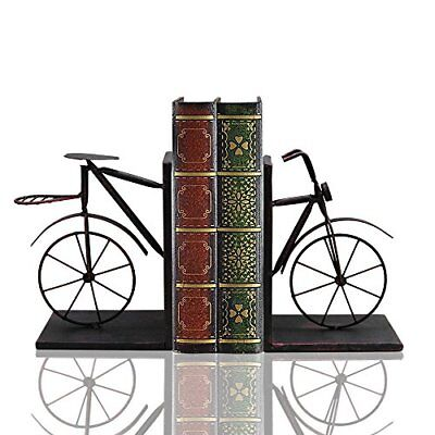 Vintage Metal Bicycle Bookend Bike Book Ends Heavy Duty Home Decor Set of 2 Gift