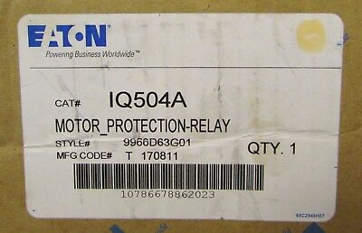 EATON CUTLER HAMMER IQ504A IQ500 Meter Protection Overload Relay 9966D63G01