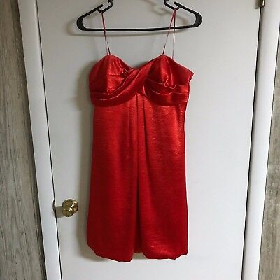 Bright Red Cocktail / Homecoming dress Size 8 By: Cache  Red Velvet Look