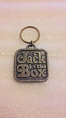"VTG ""Jack in the Box"" Restaurant ""Take Life A Little Easier"" Pewter FOB Keychain"