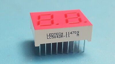 "Dual 7-Segment, 0.5"" Numeric LED Displays, LEDTECH, LC5042R-11,RoHS,Lot of 4 Pcs"