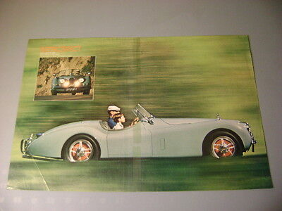 """1954 Jaguar Xk 120M Poster , Frameable 10 3/4"""" X 16"""" Owned By Bruce Carnachan"""