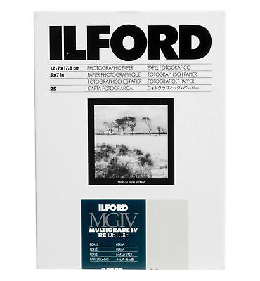 Ilford Multigrade IV RC Deluxe B&W VC Paper (5 x 7in, Pearl, 25 Sheets)