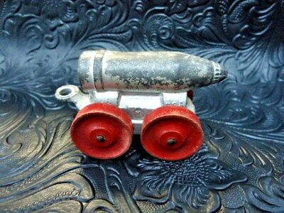 Vintage Manoil Bullet/ Shell On Wheels Lead Toy Soldier Barclay Antique Usa
