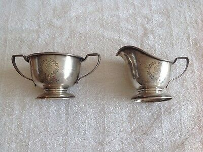 Antique Sterling Silver Sugar and Creamer