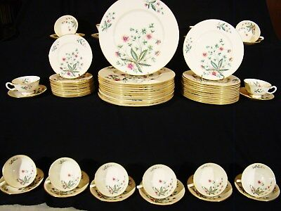 Lenox Porcelain Country Garden W302 Fine China 59 Pieces Dinner Service For 12