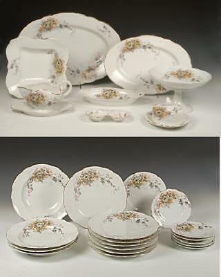 Antique Imperial Russian Kuznetsov 26-piece porcelain service 19th century
