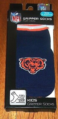 Nwt Nfl Gripper Socks Featuring The Bears Football Team Sz 6 Months Shoe Sz 2