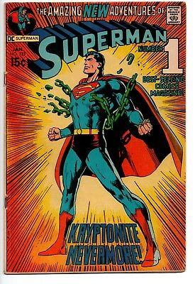 Superman #233 VG Classic Neal Adams Kryptonite Chains Cover DC SEE SCANS!