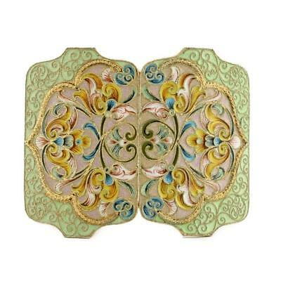 Antique Russian shaded enamel belt buckle
