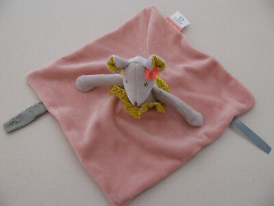 "Moulin Roty ""Mademoiselle & Ribambelle"" Collection Plush Mouse Lovey, 10"" -- EUC"