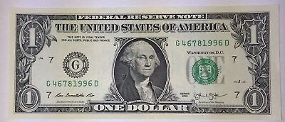 Crisp! $1 UNC Dollar BIRTH YEAR BILL NOTE 4678