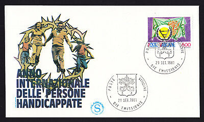 International Year of Disabled Persons 1981 FDC Vatican Vaticane Cover Italy FDI
