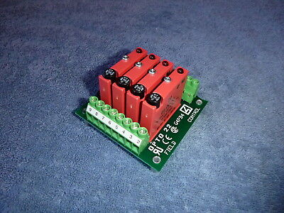 Opto 22 Solid State Relay Panel, 4 Relays, LED Status Indicators, Fused, 15V