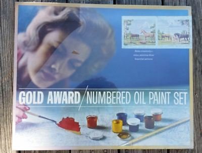 Vintage Gold Award Paint by Number Set HORSES 20x16 Paint Panels Sealed Box