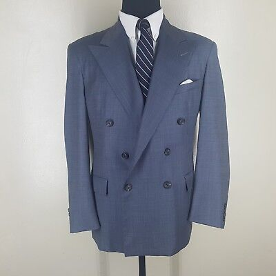 Polo Ralph Lauren Vintage  U.s.a Double Breasted Suit Side Vents  44 Reg