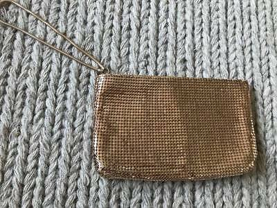 VINTAGE Gold Authentic GLOMESH bag purse with mirror perfect for going out