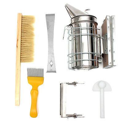 6Pcs Beekeeping Tools Kit Bee Hive Smoker Bee Keeping Beekeeping Accessory