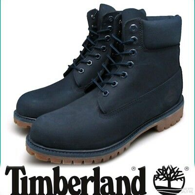 """Timberland Premium Navy Blue Suede Leather Boots 6"""" Bnib RRP £175 10.5 Genuine"""