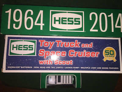 1964-2014 50th ANNIVERSARY HESS COLLECTOR'S EDITION&TOY TRUCK SPACE CRUISER,MINI