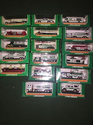 1998-2014 Hess Miniature Set, Never Played, Free Priority Shipping !!!
