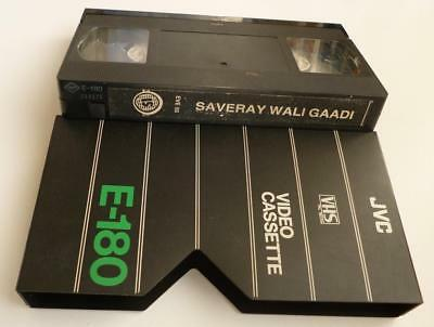 VHS Video Cassette Tape of Indian Film Saveray Wali Gaadi