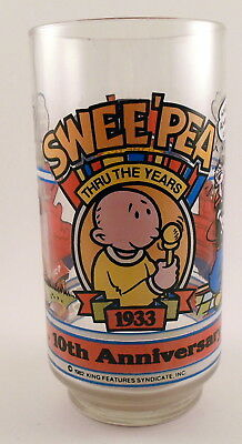 Popeyes Sweet Pea 10th Anniversary Glass