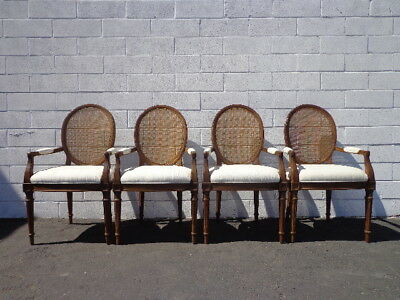 Dining Chairs Cane Armchairs Balloon Louis XVI Country French Provincial Regency
