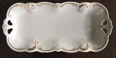 PK Silesia Germany Gold Trimmed Tray Early 1900's