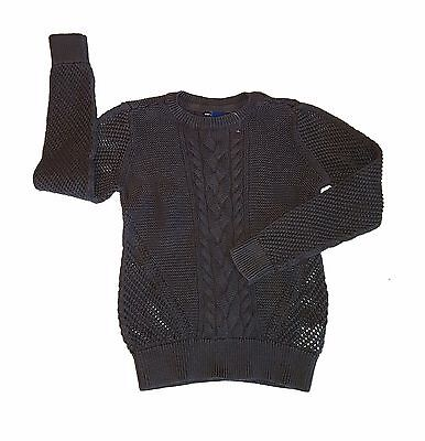 e89c258e567 Gap Kids Size Medium 8-9 Girls Brown Cable Knit Long Sleeve Sweater NWOT