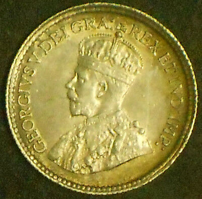 1918 George V Silver Canada Five Cent Piece. Very Nice. Free Shipping!!!!!!!!!!!