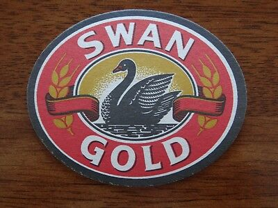 1 x OLD RETRO SWAN GOLD WACA CRICKET AUSTRALIA BEER COASTER XM2