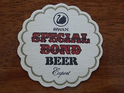 1 x OLD RETRO SWAN SPECIAL BOND EXPORT AUSTRALIA BEER COASTER XM2