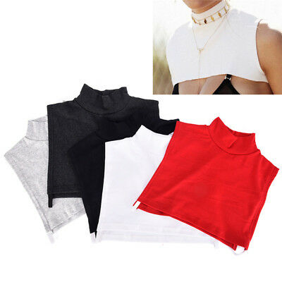 Detachable Cotton High Shirt Fake False Collar Choker Necklace Fashion CollarGT
