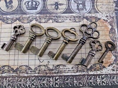 Vintage Style Open Barrel Skeleton Key Furniture Cabinet -Assorted 7 pcs - New
