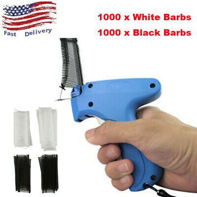 Clothes Garment Price Label Tag Tagging Gun 2000 Barbs 1 Needle Machine Tool Set