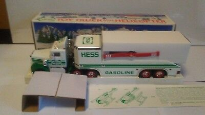 1995 Hess Toy Truck & Helicopter NEW IN BOX