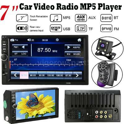 """7"""" HD Car Radio Stereo MP5 Player Double 2DIN With Camera FM Aux In USB/TF B3E6"""