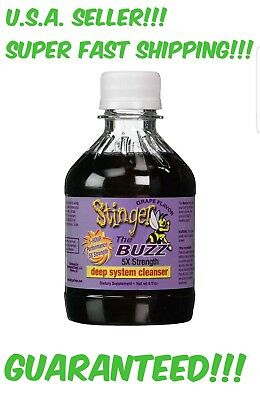 STINGER THE BUZZ DETOX 5x Strength cleanse Grape 8 oz WORKS IN 1 HOUR! DETOXIFY