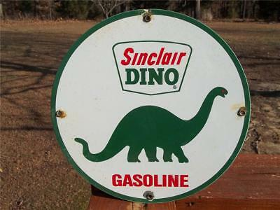 Porcelain Sinclair Dino Gasoline Sign Gas Station Display Store Advertising Sign