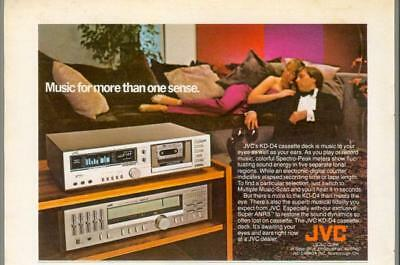 1981 JVC KD-D4 Stereo Cassette Deck Radio Home Audio Music Vintage Print Ad 80s