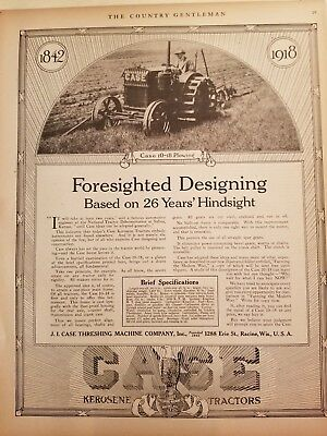 J I Case Plow Works 1916-1921 The Country Gentleman 64 print ads