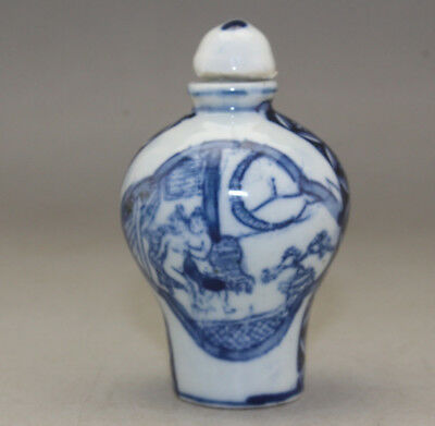 Chinese Hand-made Exquisite porcelain snuff bottle  k264